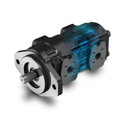 Pompe e motori a ingranaggi con corpo inghisa